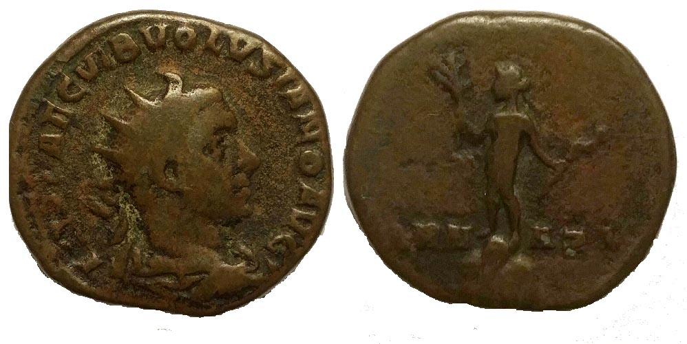 Médaillon très rare de l'Empire romain Volusien 462